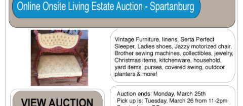 AUCTIONS ONLINE NOW…